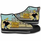 JOHNNY BRAVO Like Elvis Funny Cartoon Canvas Running Shoes