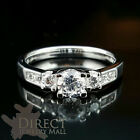 9ct REAL White GOLD Created DIAMOND Wedding ENGAGEMENT Ring Full Size
