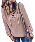 Miracle City Blush Gromet Lace-Up Pull over Sweater