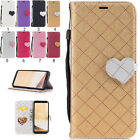 Magnetic Wallet Stand Flip PU Leather Card Pattern For Samsung Galaxy Case Cover
