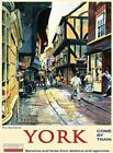 YORK THE SHAMBLES YORKSHIRE BRITISH RAILWAYS HOLIDAY TIN PLAQUE METAL SIGN 1003