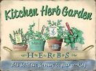KITCHEN HERB GARDEN MINT BASIL THYME ROSEMARY GARDENING METAL SIGN PLAQUE 122
