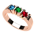 NANA S-Bar Mothers Ring 1 to 6 Stone Ring Rose Gold