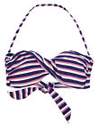 New Ex Accessorize Ladies Blue Nautical Twist Bandeau Bikini Top Swimwear UK8-12