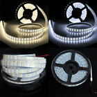 Dual Row 5M 600Led SMD 5050 Pure/W White LED Strip Light Silicon Tube Waterproof