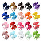 4.5 inch Girl Baby Kids Hair Bow Grosgrain Ribbon Hairbands Accessories Boutique