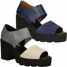 SALE! Women's Sandals Grey/Navy Blue Summer Leather SIXTY SEVEN 76973 Shoes
