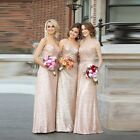Mermaid Sequins Bridesmaid Dresses Strapless Maid Of The Honor Evening Gown H334