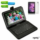 "9"" inch 8GB/16GB Quad Core Android 4.4 Tablet PC Dual Camera A7 WiFi W/ Keyboard"