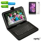 """9"""" inch 8GB/16GB Quad Core Android 4.4 Tablet PC Dual Camera A7 WiFi W/ Keyboard"""
