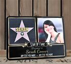 Personalised Hollywood Star Happy Birthday WOOD FRAME PRINT Gift F59 ANY TEXT
