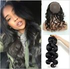 Body Wave Virgin Hair Weave  360 Lace Frontal With Wig Cap With 2 Bundles/200g