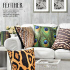 "Wild Leopard Feather Inspired Velvet Pillow Case Decorative Cushion Cover 18""x18"