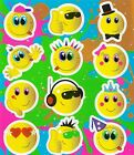 Childrens Party Bag Stickers Sticker Sheets Kids 18 Designs - Choose Quantity