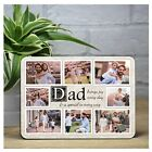Personalised DAD WOOD PHOTO Frame PRINT KEEPSAKE Fathers Day GIFT IDEA N60