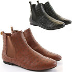 NEW WOMENS LADIES PULL ON LOW HEEL FLAT PIXIE CHELSEA ANKLE BOOTS SHOES SIZE