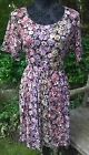 BRAND NEW LABEL BE SIMPLY BE BLACK MULTI FLORAL DRESS TUNIC SIZE 14