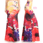 Floral Splash Sublimation high waist maxi long skirt (S/M/L/XL/1XL/2XL/3XL)