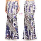 Feather Purple Sublimation high waist maxi long skirt (S/M/L/XL/1XL/2XL/3XL)