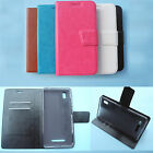 For Alcatel smartphone-Wallet Folder Stand Flip Folio PU Leather Case Cover 2017