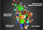 Children's Party Thank You Cards - Various pack sizes ~ Minecraft
