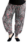 New Ladies Harem Plus Size Trousers Women Paisley Artsy Ali Baba Flared Nouvelle