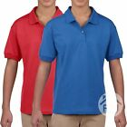 2 Pack Gildan Dry Blend Childrens Polo Shirt Top School Uniform Wear Plain SALE