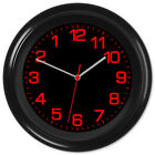 Backwards Clock Reverse Movement Anti Clockwise #4a Red Text