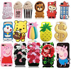 3D Creative Soft Silicone Phone Back Case Cover Skin For iPhone 6 6S 7 / Plus