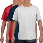3 Pack Gildan Soft Style Childrens T Shirt Boys Girls Tshirt Plain Wholesale Top