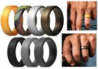 Designed Silicone Wedding Rings Men 7Pack Affordable Rubber Band Beveled SacoBan