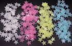 50pcs DIY Wall Star Stickers Fluorescent Glow In the Dark, UK Seller