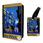 Vintage Poster India Luggage Tag & Passport Holder - T2629