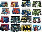 NEW BOYS MARVEL LICENSED CHARACTER COTTON BOXER SHORTS TRUNKS UNDERWEAR AGE 2-10