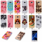 For Samsung S8 Plus A5 A7 2017 Blink Dog Patterned Thin Soft Silicone Case Cover