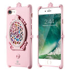Lady 3D Makeup Mirror Case For i Phone 6 7G Glitter Rhinestone Kickstand Cover