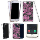 Shockproof 360° Silicone Clear Case Cover For many mobiles - marble design 325