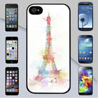 Eiffel Tower Colorful Paint Splatters for iPhone & Galaxy Case Cover