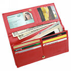 Women Leather Long Wallet Bifold Clutch Purse Coin Pocket ID Phone RFID Blocking