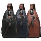 Men's Chest Sling Packs Shoulder Cross Body Bag Cycle Day Packs Satchel Backpack