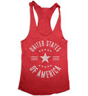 United States of America USA 4th of July Women's Racerback Tank Top Merica