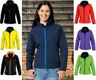 Ladies Water Repellent Windproof Breathable SOFT SHELL Jacket with Inner Fleece