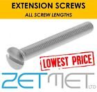 10 x M3.5 Long Extension Electrical Socket Switch Light Plug Front Plate Screws