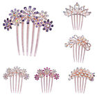 Crystal Rhinestone Flower Peacock Crown Wedding Bridal Hair Pins Clips Jewelry