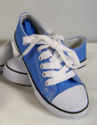 New in Box Boys Light Blue Low Top Canvas Sneaker  Youth Size 2