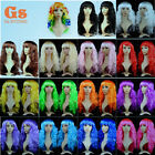 Long Curly Wavy wig clown hair Cosplay Costume Party Halloween 70s 80s Disco