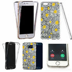 360° Silicone gel full body Case Cover for many mobiles - yellow luring daisy