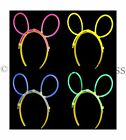 GLOW IN THE DARK HEADBAND NEON GLOW STICK BUNNY EARS FESTIVAL FANCY DRESS RAVE
