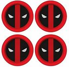 Marvel Deadpool Logo Melamine 4 Plate Set Round Plates New Cooking Serving Kids