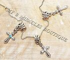 Girls CROSS Necklace Silver Chain First 1st Communion Small Confirmation Gift